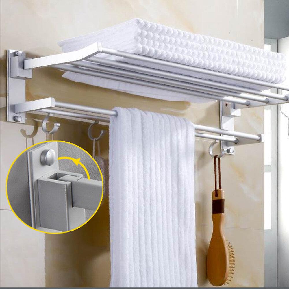Wall Mounted Towel Holder Rack Hook