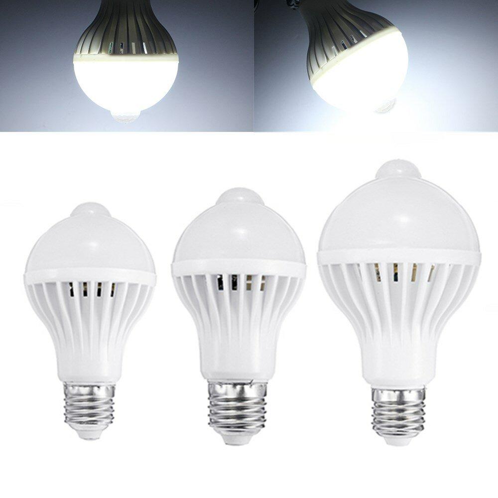 E27 5W 7W 9W PIR Infrared Motion Sensor LED Light Lamp Bulb Home Lighting A85-265V