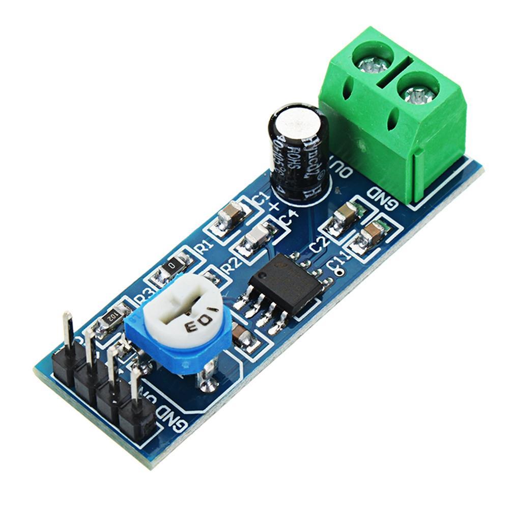 LM386 Ses Amplifikatör Modül 200 Times Giriş 10K Ayarlanabilir Direnç
