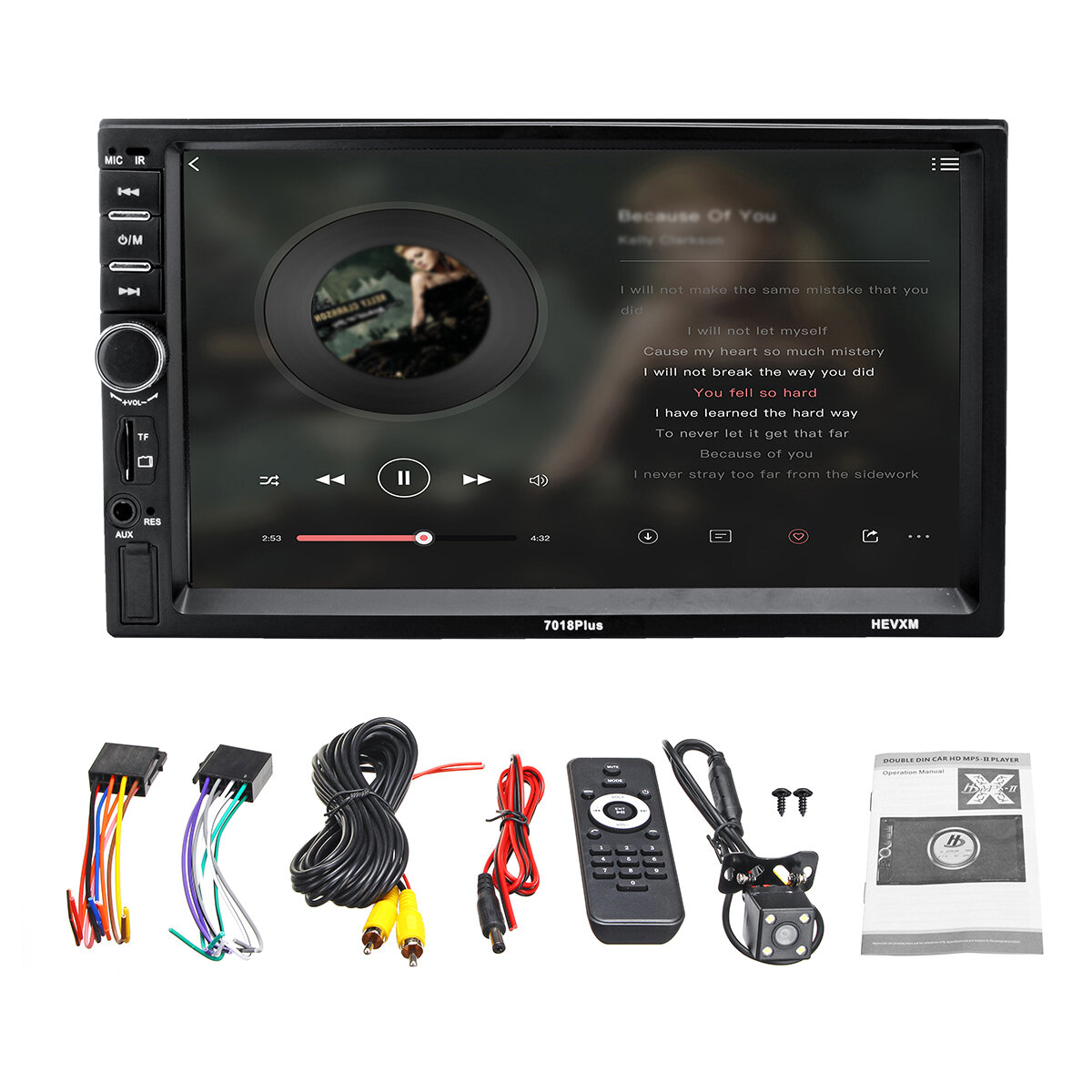 7 Pollici 2Din Touch Car MP5 Player bluetooth Stereo FM Radio USB TF AUX