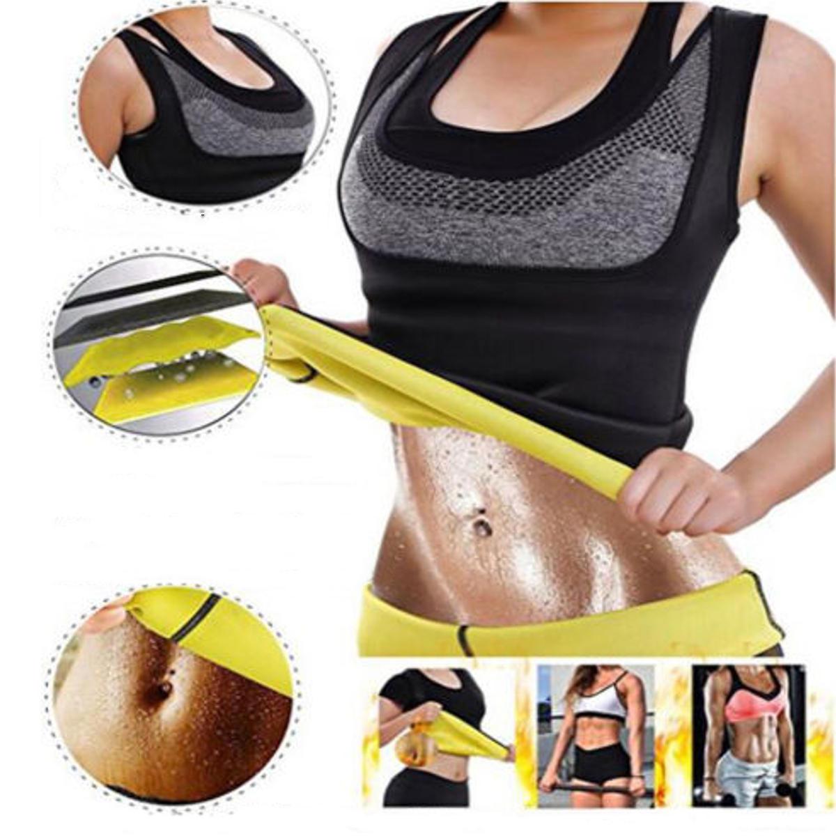 Wanita Slimming Hot Keringat Rompi Pembentuk Tubuh Kontrol Neoprene Tummy Fat Burner Shapewear Olahraga