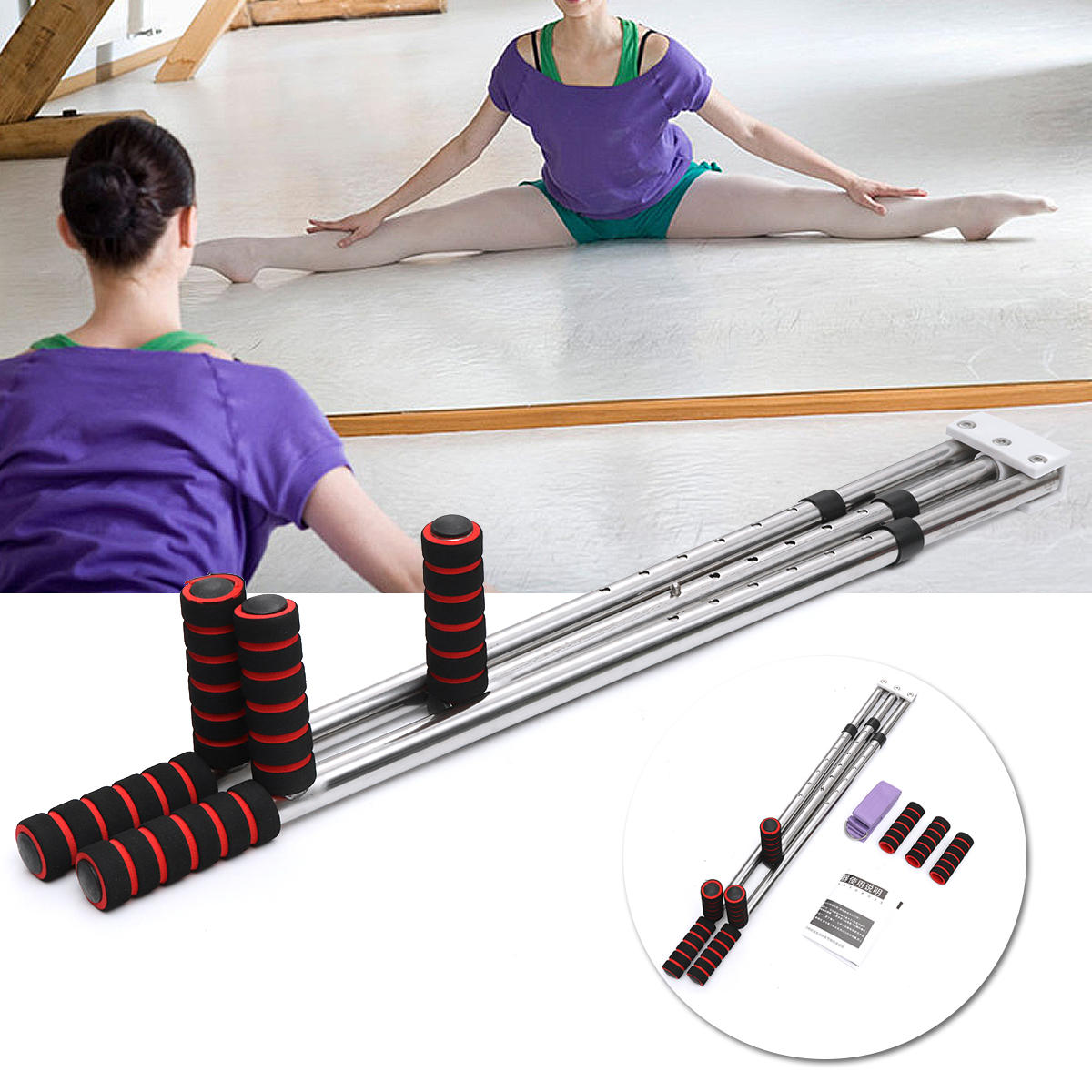 Leg Stretcher Heavy Duty Leg Stretching Training Machine Improve Flexibility USA