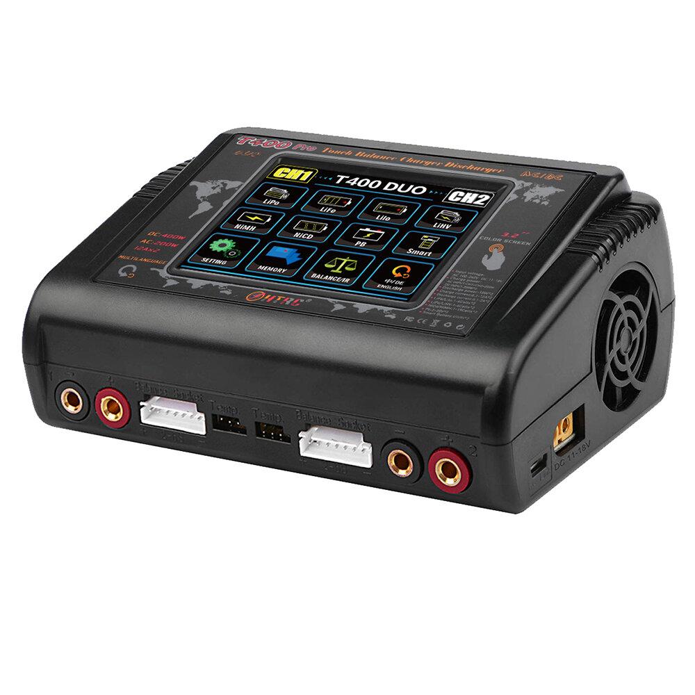 Banggood coupon: HTRC T400 Pro AC 200W DC 400W 12AX2 Lipo Bateria Carregador carregador para LiPo LiHV LiFe Lilon NiCd NiMh Pb Bateria