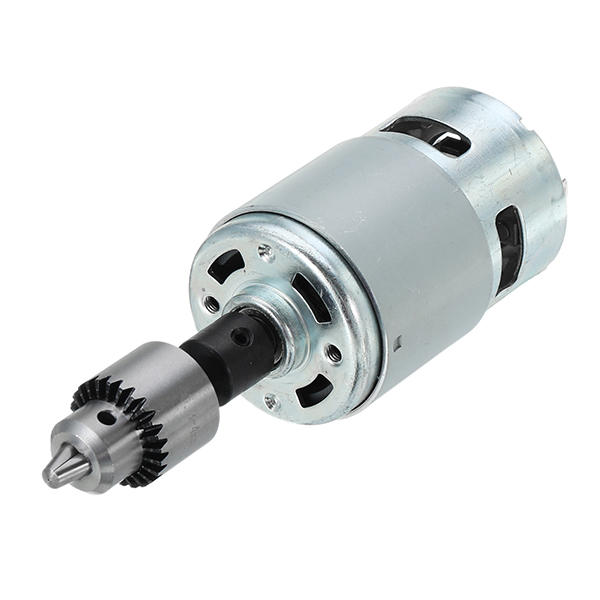 Machifit 775 Motor DC 12-24V Electric Drill with Drill Chuck for Polishing Drilling Cutting