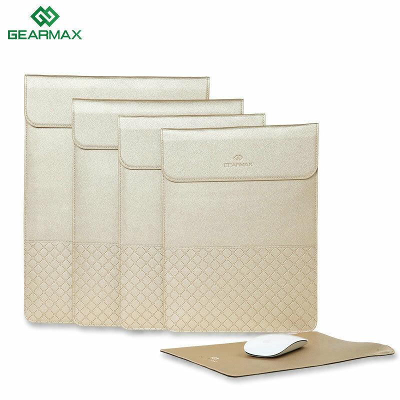 Gearmax 11.6 12 13.3 15.4 Inch Phong bì sang trọng Vàng Casual PU Túi xách tay cho máy tính xách tay iPad Macbook Air Pro