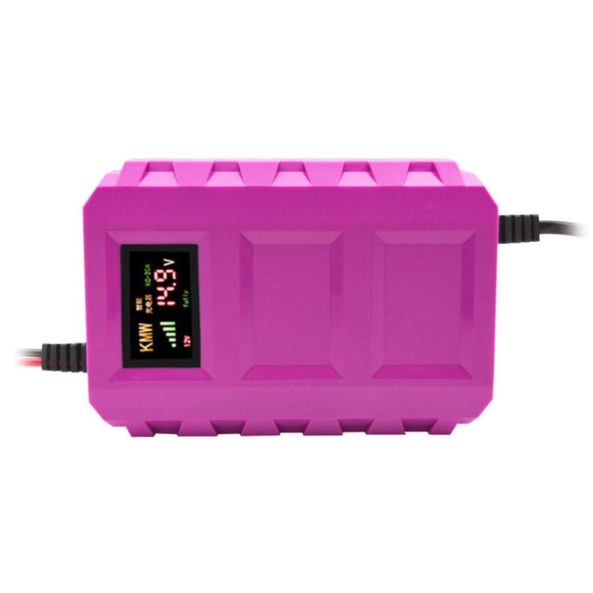 यूएस / ईयू 12 वी पल्स रिपेयर बैटरी चार्जर एलसीडी इंटेलिजेंट ऑटोमोबाइल मोटरसाइकिल कार