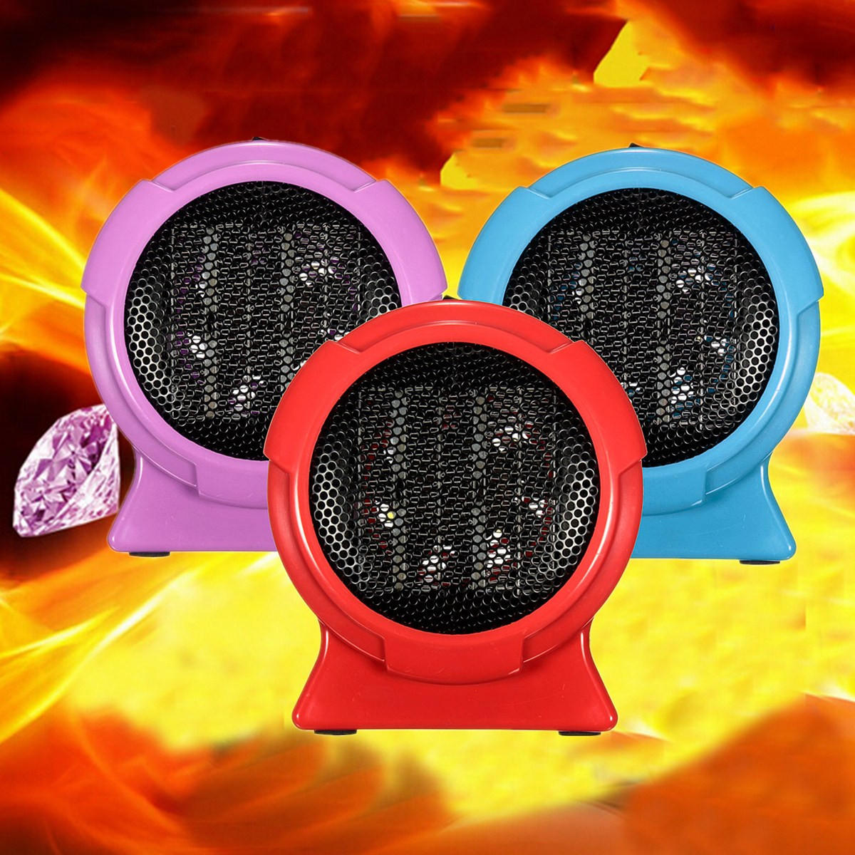 220V Mini Winter Warm Home Office Desktop Dry Electricity Energy Heater Grille Outlet Gift Machine Hot Air Fan