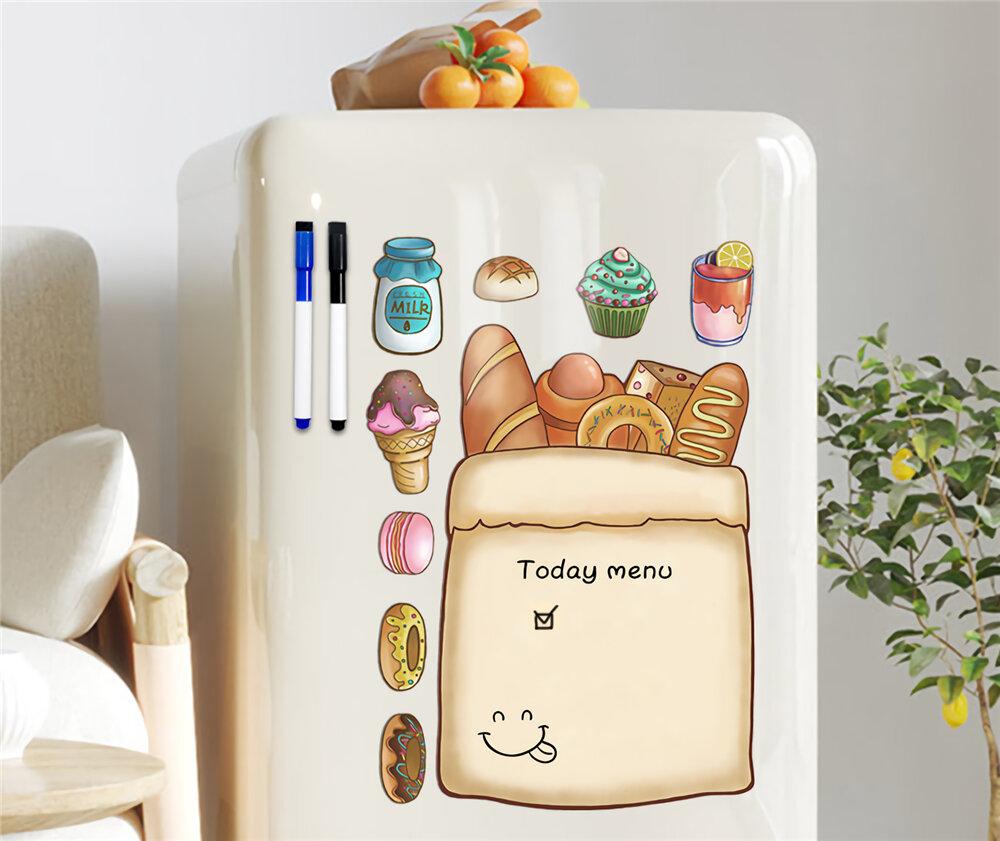 Aimant Dessin Jouets Écriture Message Board avec Stylo Tableaux Mémo Plan Liste Menu Magnétique Tableau Blanc pour Réfri