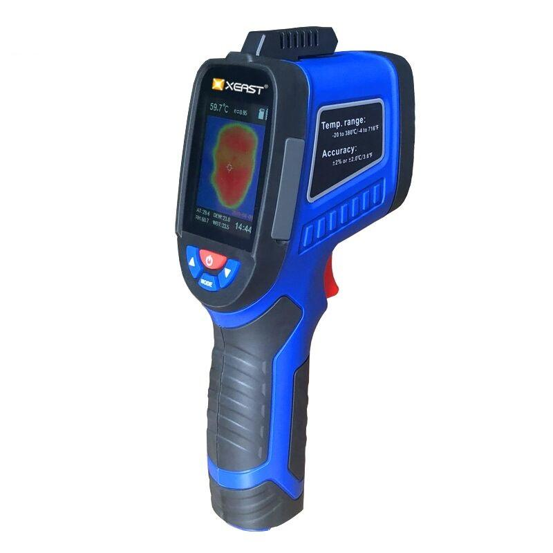 XEAST XE-27 Handheld Thermal Imaging Camera Infrared Thermometer 2.4 inch LCD Screen with temperature and humidity measurement Thermal Imager