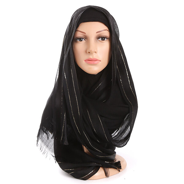 Women Chiffon Solid Head Coverings Hijab Face-lift Headscarf Hat Islamic Scarf