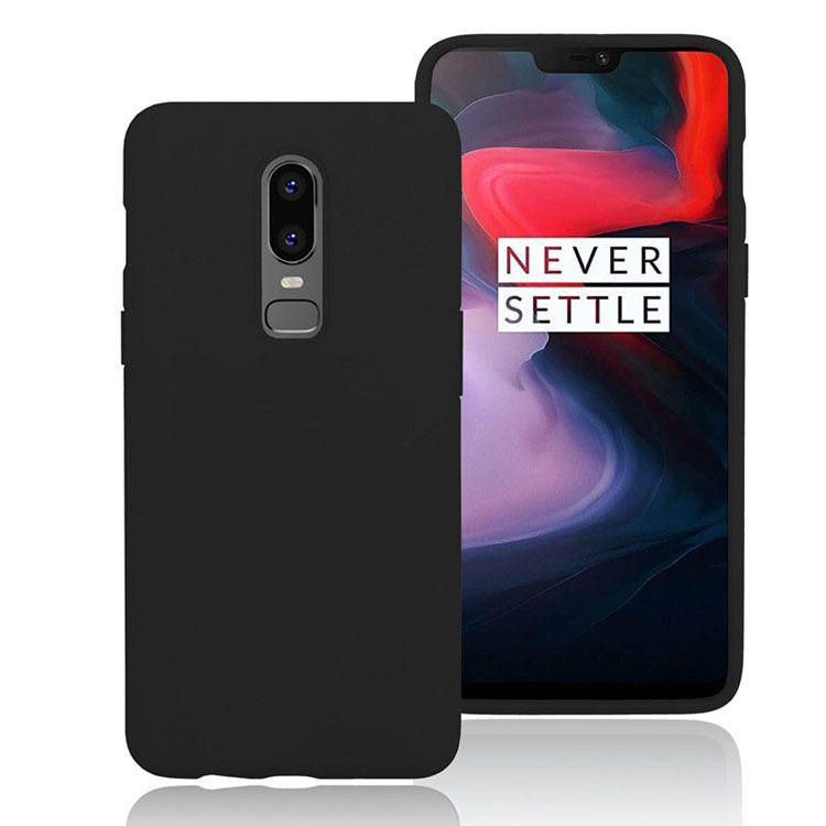 new products 26a7c 8b0cd Bakeey Shockproof Soft Silicone Protective Case For Oneplus 6