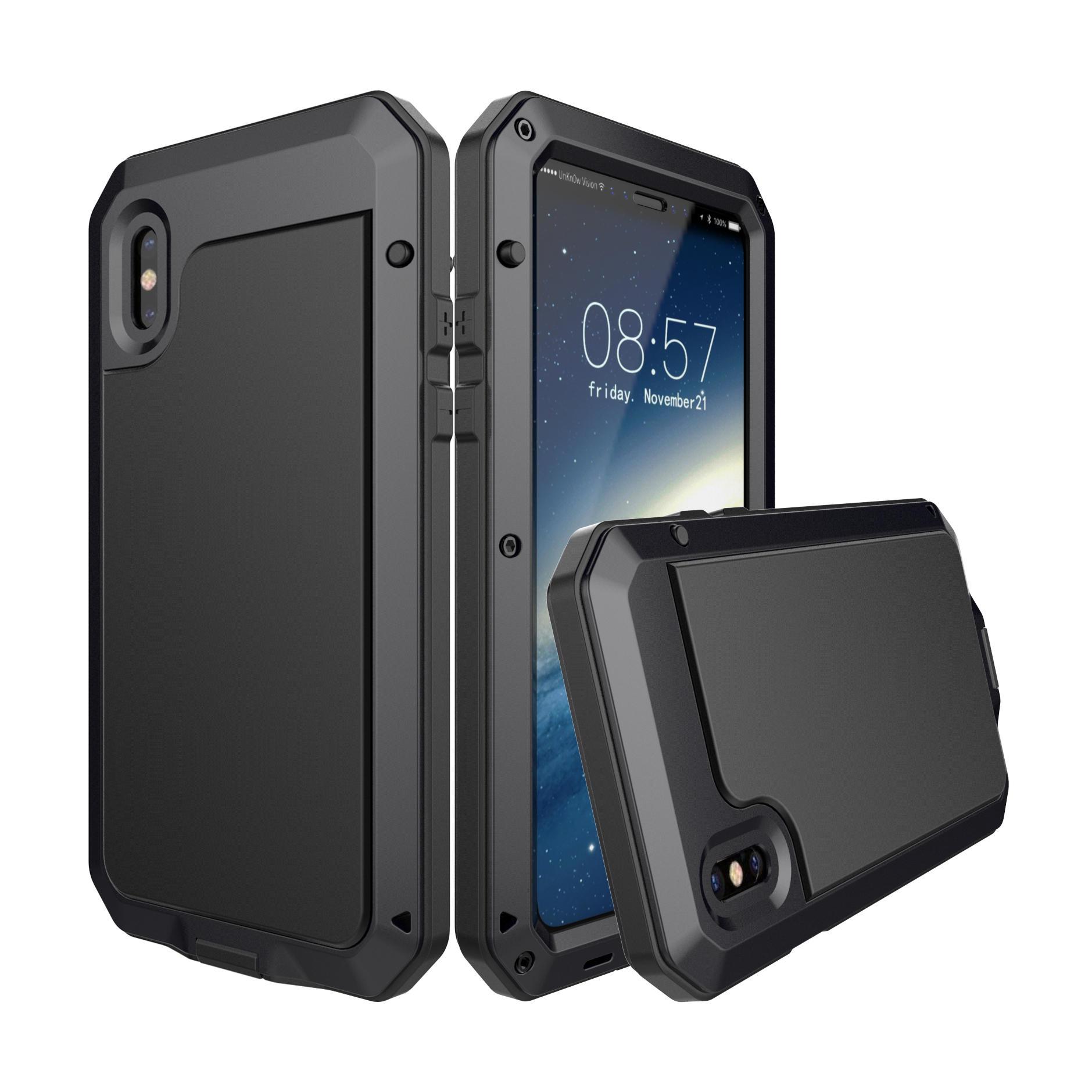 Aluminium Vanntett Støtdempende Beskyttelsesveske Til iPhone X