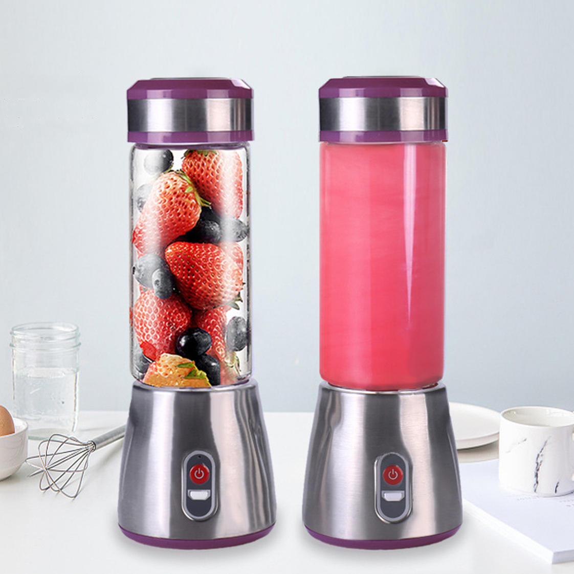 20W 500ml Mini Portable USB Electric Fruit Juicer Blender Maker Mix Juice  Shaker