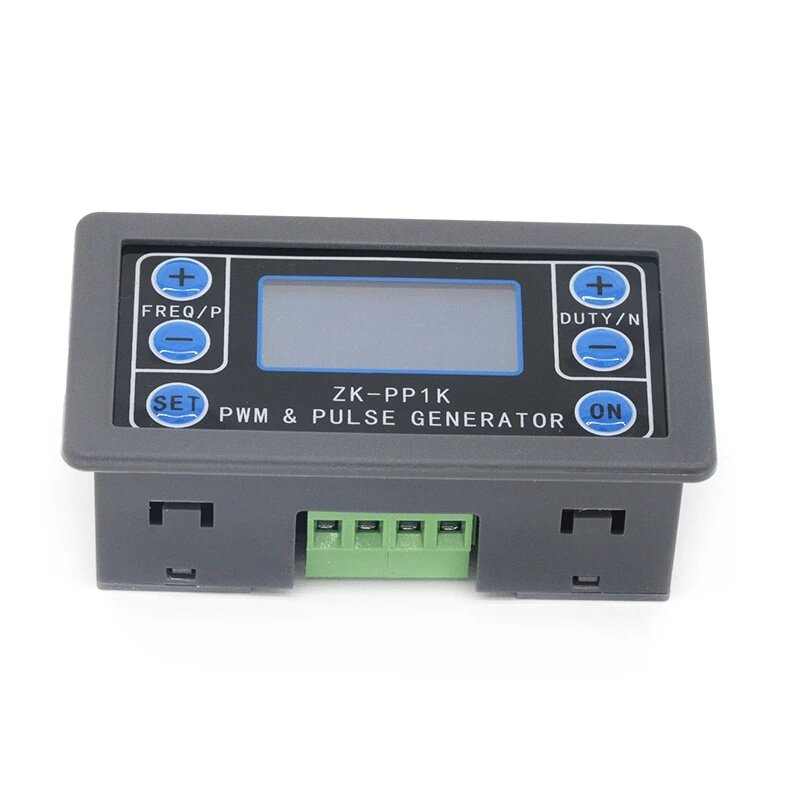 ZK-PP1K Dual Mode LCD PWM Signal Generator 1-Channel 1Hz-150KHz PWM Pulse Frequency Duty Cycle Adjustable Square Wave Ge