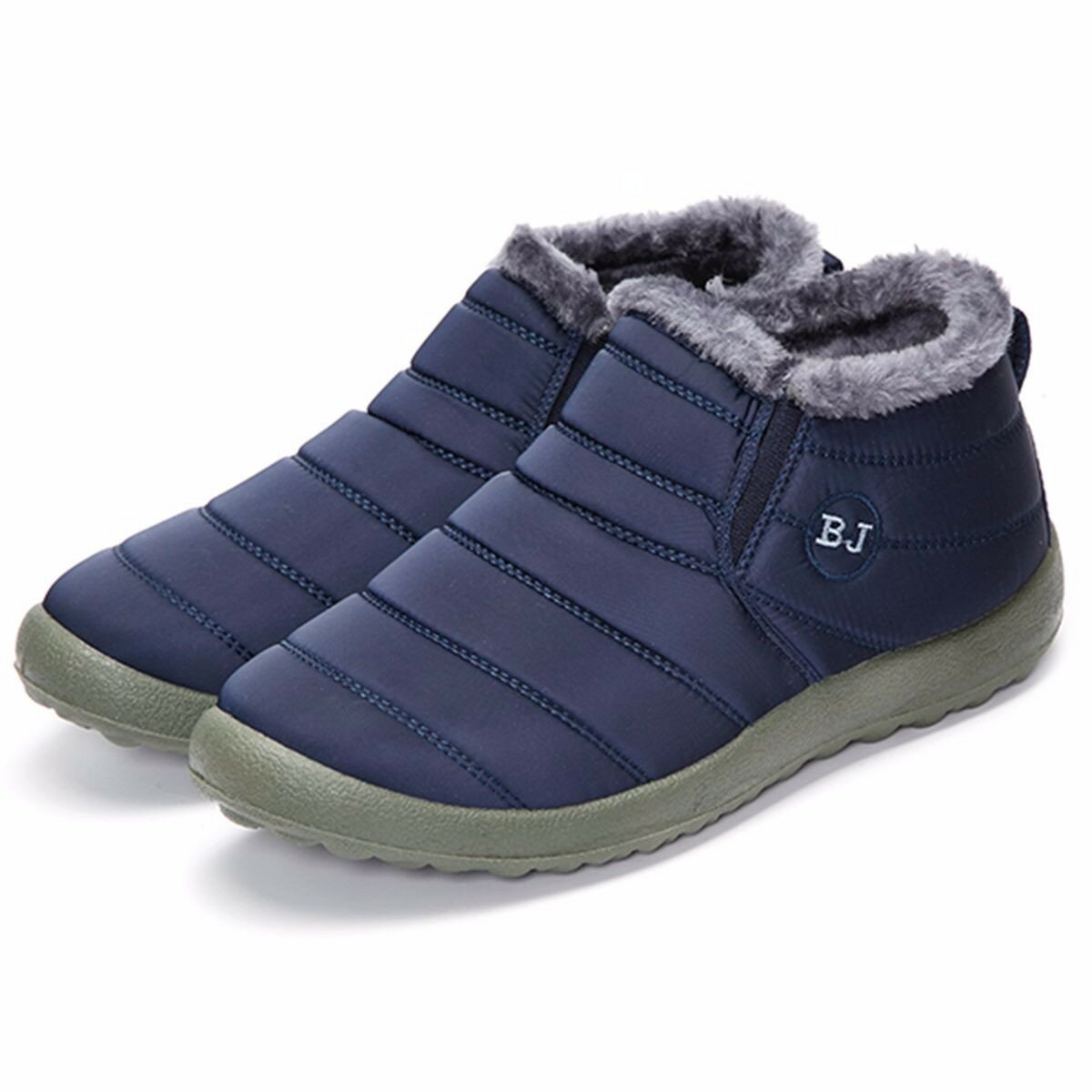 BJ Shoes Men Winter Cotton  Fur Lining Keep Warm Casual Snow Boots