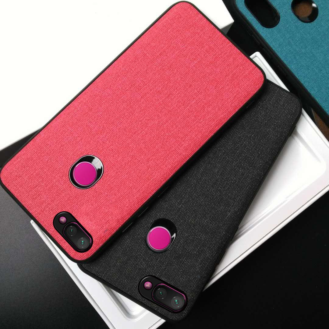 Bakeey Fabric PC+PU Leather Back + Soft TPU Bumper Protective Case for Xiaomi Mi 8 Lite 6.26 inch