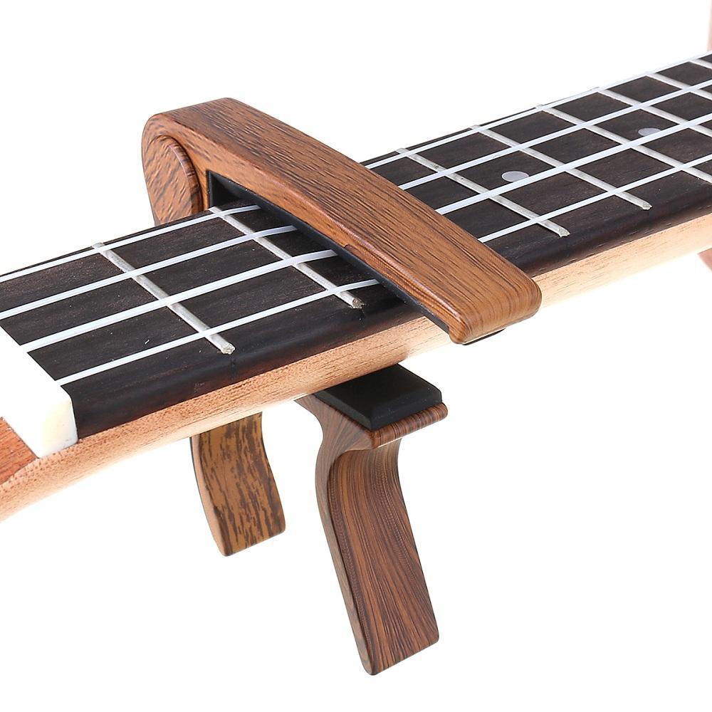 Guitarra Capo Llave de Sujeción del Gatillo del Sintonizador de Sintonización de Cambio Rápido para Guitarra Acustica Ukulele Accesorios