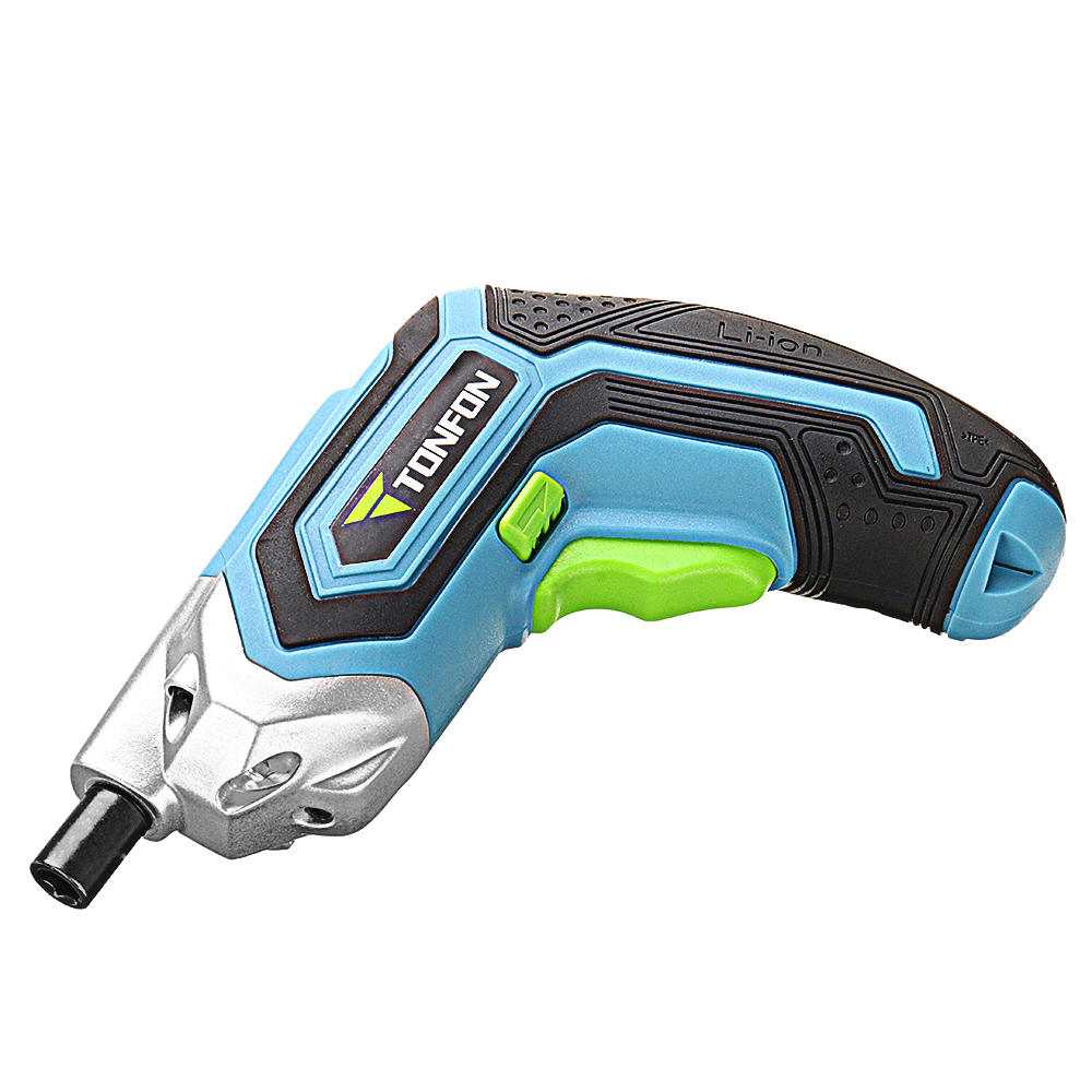 Tonfon 3.6V Cordless Electric Screwdriver USB Rechargable Power Screw Driver with Screw Bits