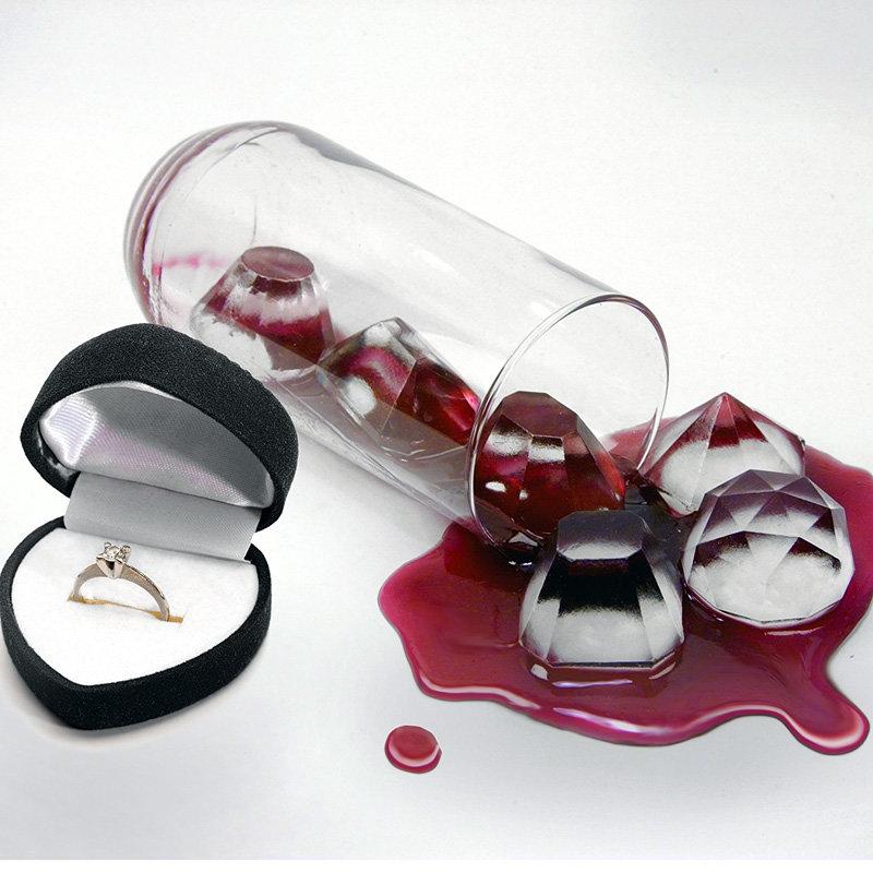 Diamantes en forma de bandeja de cubitos de hielo Ice Maker Silicona Ice Mold Chocolate Candy Jelly herramientas de molde de barra