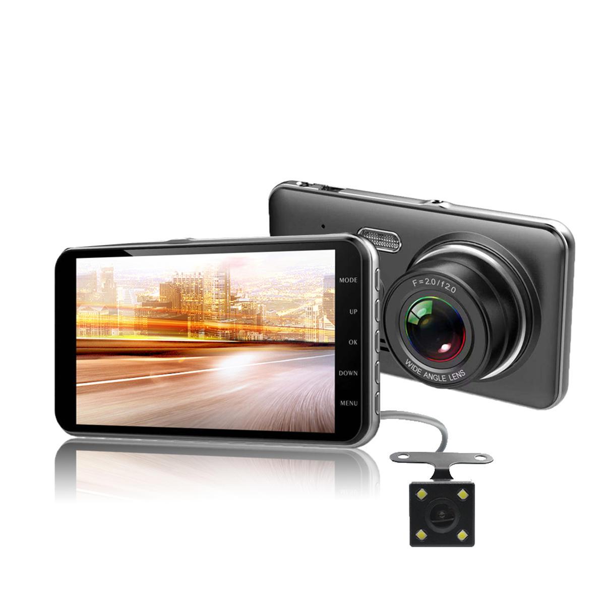 D207 4 इंच 1080P कार DVR वीडियो वॉयस रिकॉर्डिंग रियर व्यू कैमरा के साथ