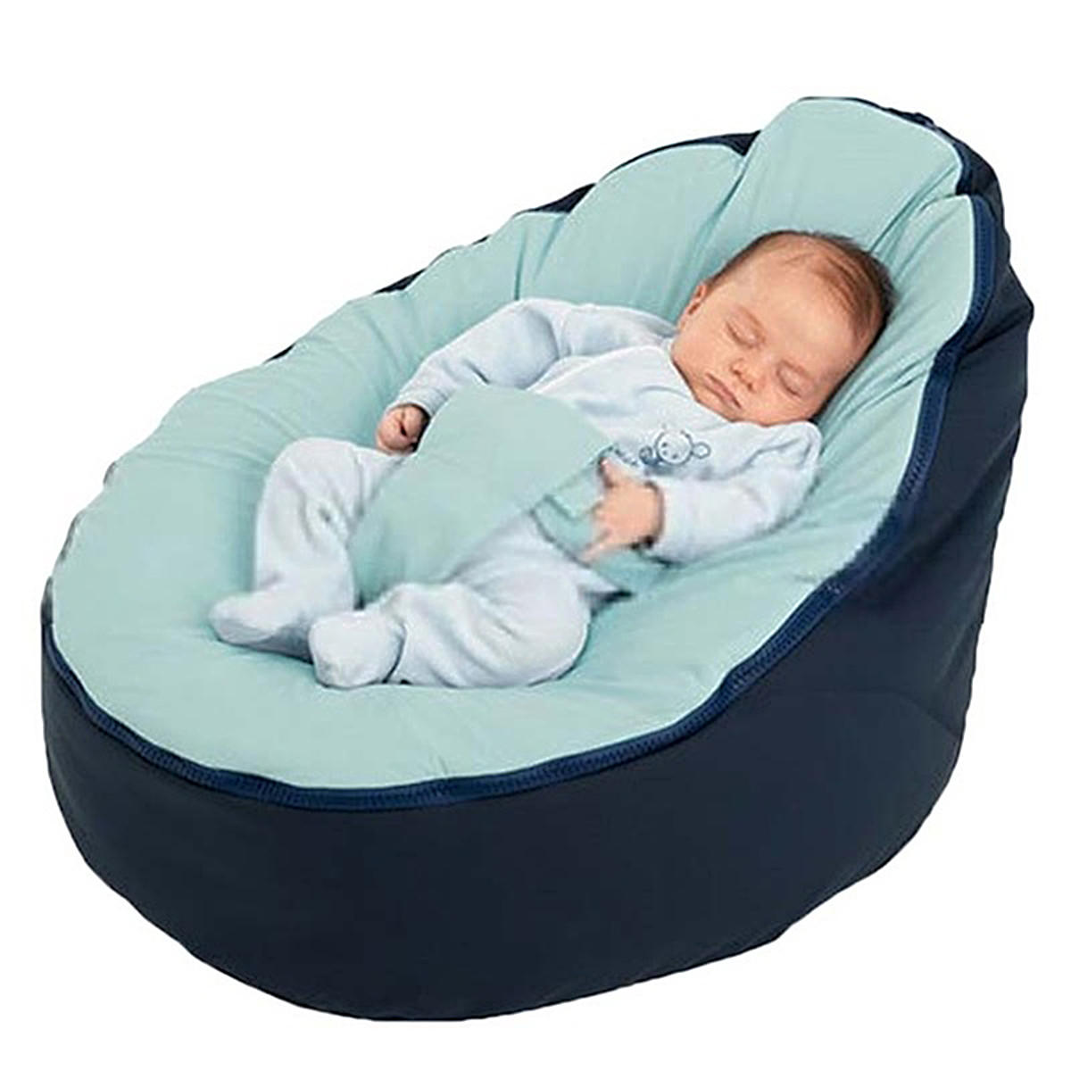 Canvas Blue Vine Baby Infant Bean Bag Snuggle Bed c Without Filling Lazy Sofa фото