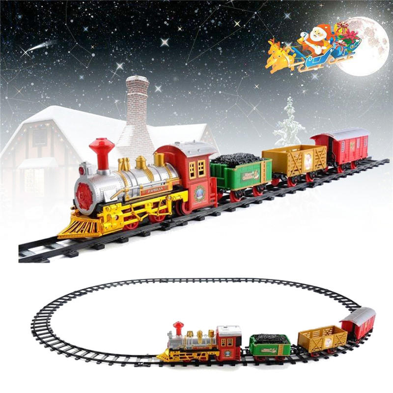 Christmas Electric Track Train With Sound & Music For Kids Children Gift Locomotive Model Toys