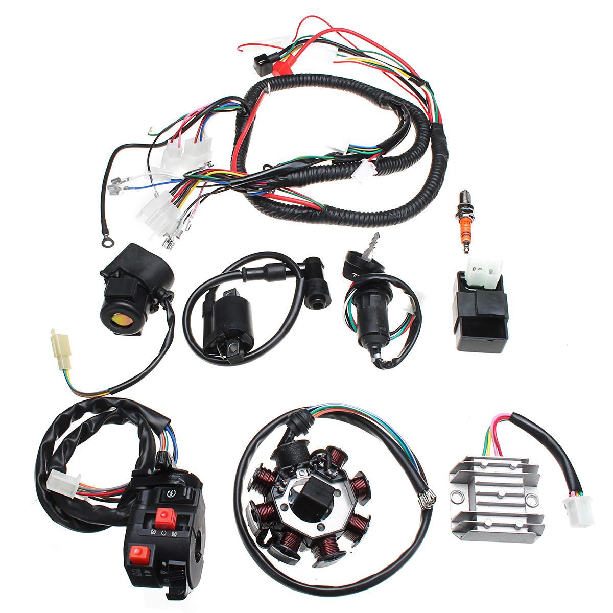 الأسلاك الكهربائية تسخير الأسلاك المنوال CDI موتور إمانويل مجموعة كاملة ل ATV QUAD 150/200 / 250CC