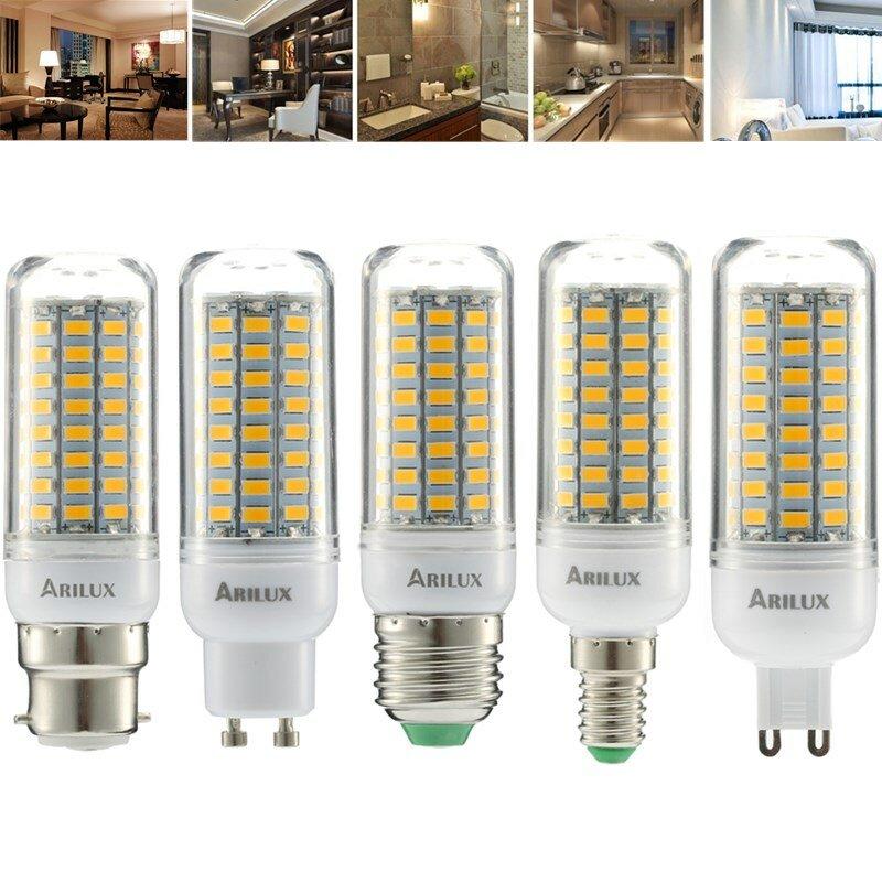 ARILUX® E27 E14 B22 GU10 G9 5W SMD5730 निरंतर वर्तमान स्मार्ट आईसी 89LEDs मकई लाइट बल्ब AC220V