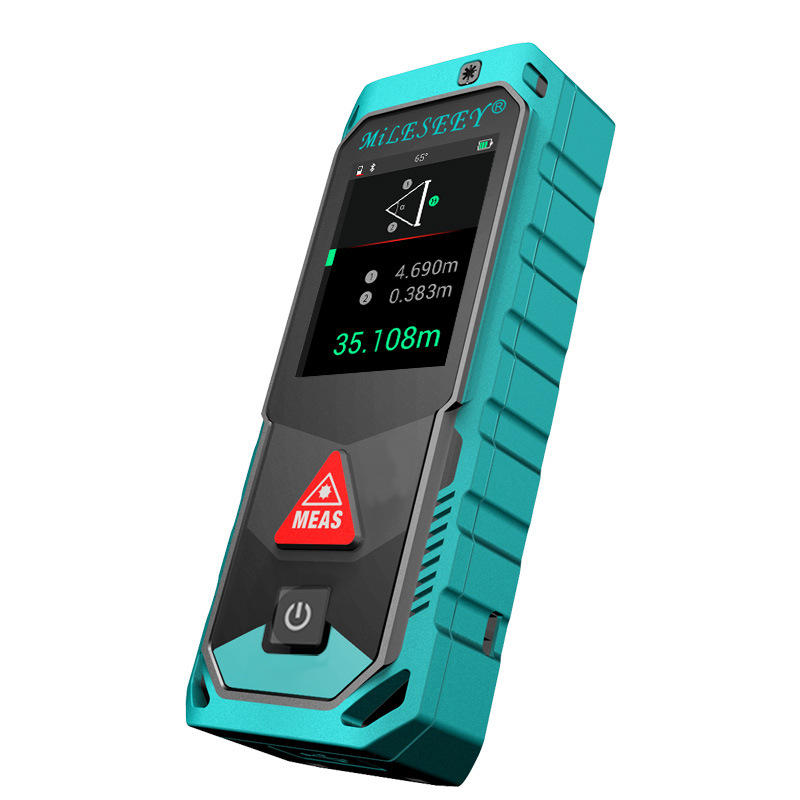 Ny Mileseey T7 40M 60M 100M Blåtooth Laser Rangefinder med Rotary Touch Screen Rechargeable Laser Meter