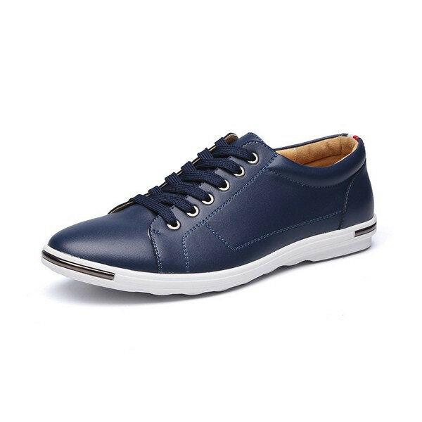 पुरुषों के लिए US आकार 6.5-12 के लिए फ्लैट ऑक्सफ़ोर्ड जूते फीता ऊपर शुद्ध रंग गोल पैर की अंगुली