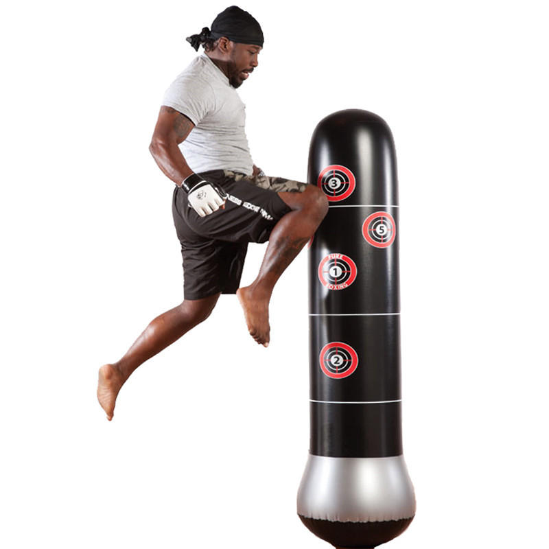 Inflatable Boxing Punching Kick Training Tumbler Bag Pressure Relief Accessory S