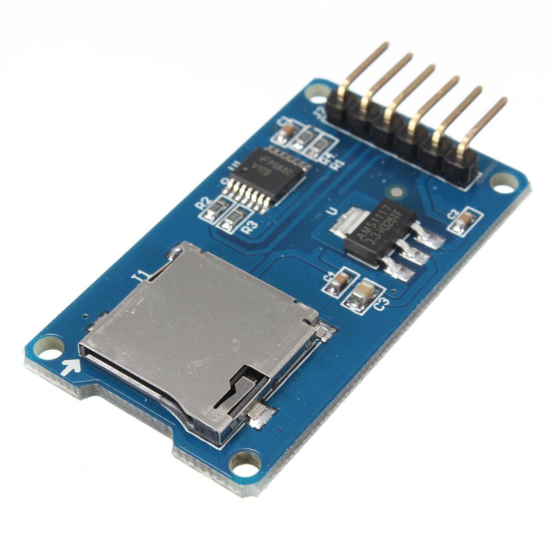 Micro TF Card Memory Shield Module SPI Micro Storage Card Adapter For Arduino