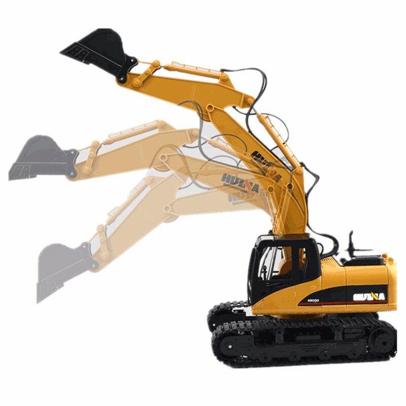 HuiNa Juguetes 1550 15Channel 2.4G 1 / 12RC Excavadora De Metal Que Carga RC Coche