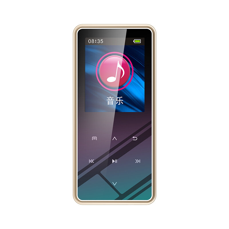M12 1.5 Inch LCD Display Bluetooth MP3 Player FM Radio MP4 E-book Reader Voice Recording High-Definition Noise Reduction HIFI Music Player Support OTG
