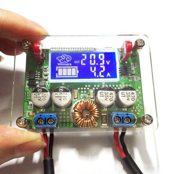 Winners® 7A DC 60V Adjustable Step Down Regulator NC Power Supply Module Current Voltage Meter Buck Module