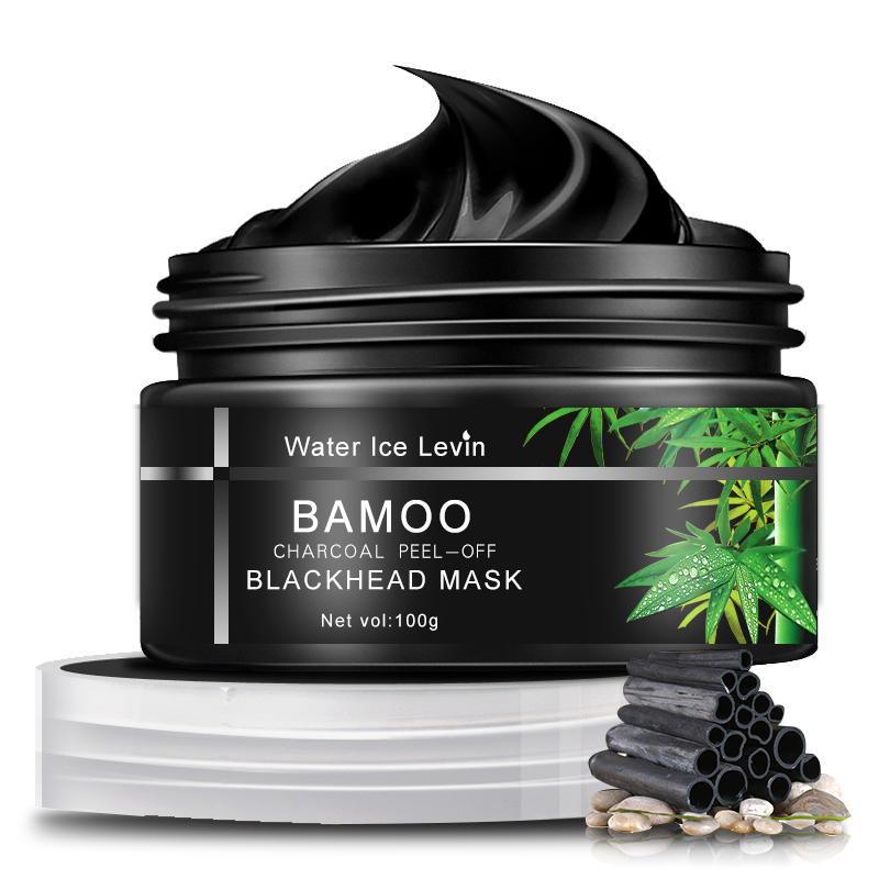 Water Ice Levin Bamboo Charcoal Blackhead Mask Peel-off Removal Purifying Smooth Pores Cleansing