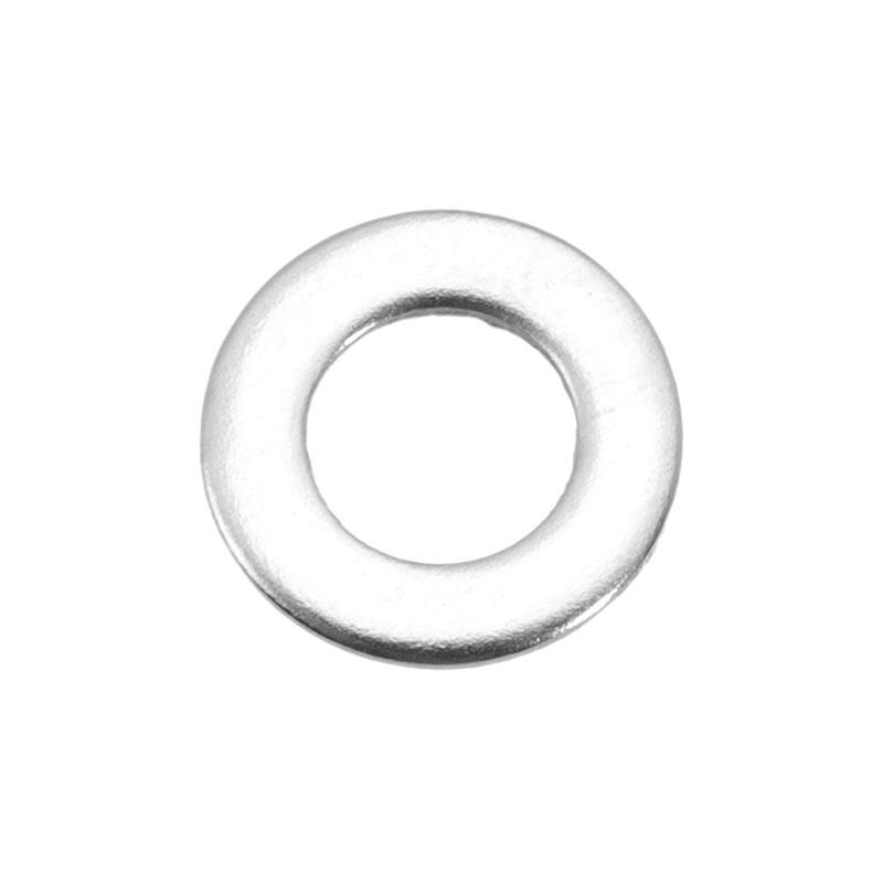 Suleve™ MXSW2 50Pcs Metric Stainless Steel Flat Washer Gasket M3/M4/M5/M6/M8