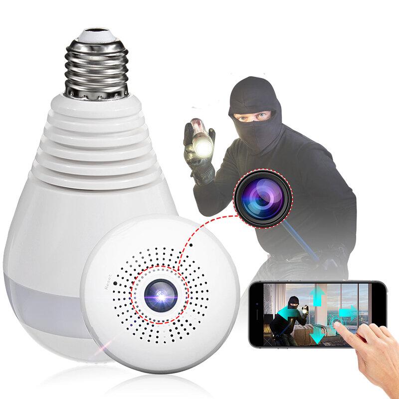 E27 360° Panoramic 1080P IR Camera Light Bulb Wifi Fisheye CCTV Security Camera