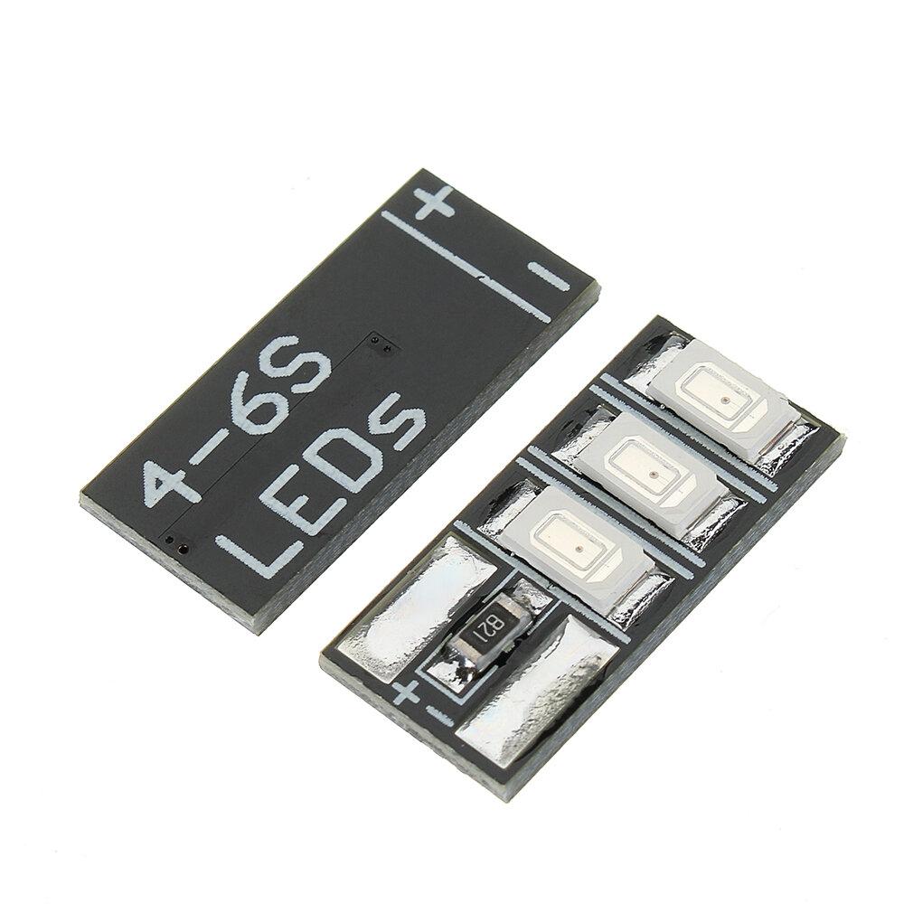 4 PCS 4-6S Mini LED Light Board Red Green for RC Drone FPV Racing Frame Kit