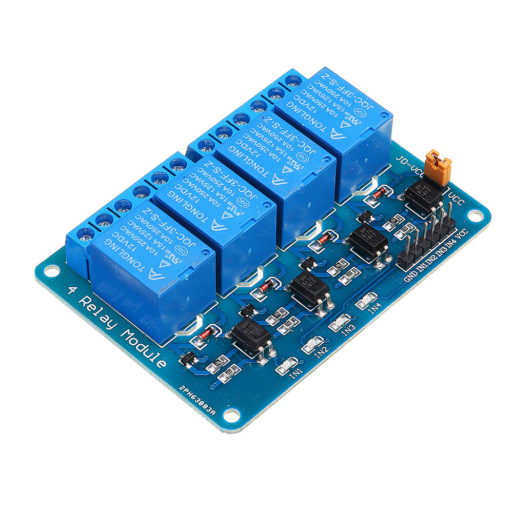 12V 4 Channel Relay Module PIC ARM DSP AVR MSP430 Geekcreit for Arduino - products that work with official Arduino board