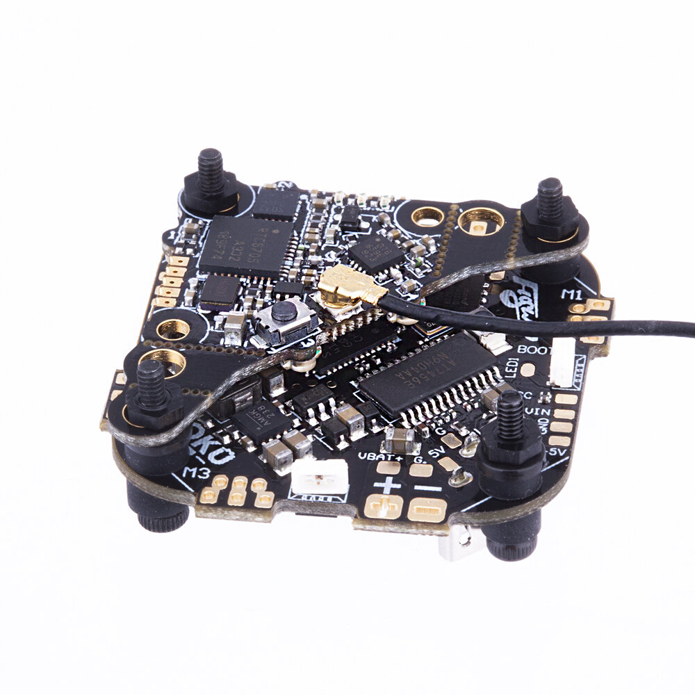 25.5x25.5mm FLYWOO GOKU GN413S Stack AIO 2-4S F4 Flight Controller 13A ESC VTX625 25/50/100/200/450mW Switchable for Too  - buy with discount
