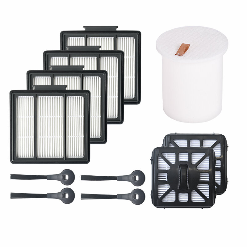 11pcs Replacements for Shark rv101 Vacuum Cleaner Parts Accessories Side Brushes*4 HEPA Filters*4 Black Filters*2 Filter