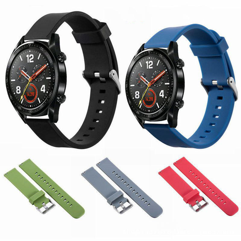 Bakeey Universal 22mm Replacement Silicone Stainless Steel Buckle Watch Band Strap for Huawei Watch GT Smart Watch