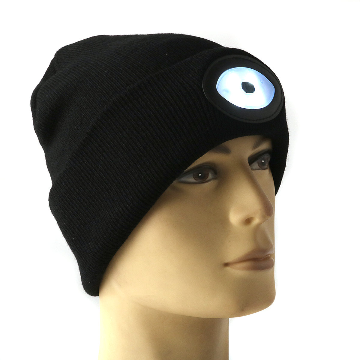 dfe0fba6b Sports Running 6 LED Beanie Knit Hat Rechargeable Cap Light Camping  Climbing Lamp