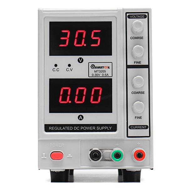 MUSTOOL MT3205 Ajustable 30V 5A Fuente de alimentación de CC regulada de 3 dígitos para el mantenimiento electrónico 220V UE Plug / 110V US Plug