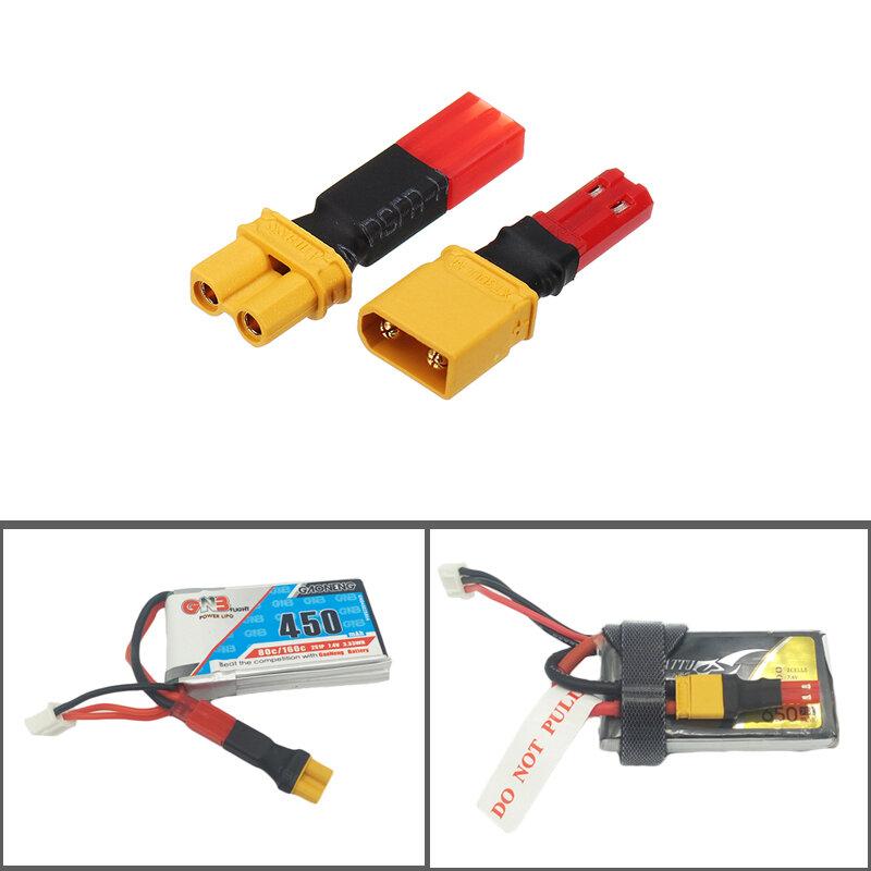 2S 7.4V लिपो बैटरी एडाप्टर कनेक्टर 680 9 482 जेएसटी पुरुष महिला प्लग में