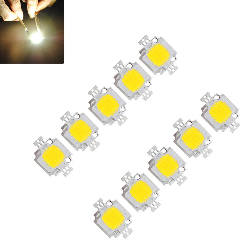 10pcs 10W 900LM White High Bright LED Light Lamp Chip DC 9-12V