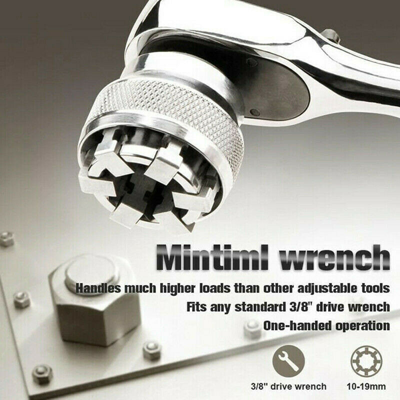 Drillpro Adjustable 10-19mm Socket Pro Magical Socket Wrench Mintiml Wrench Replacement Accessories