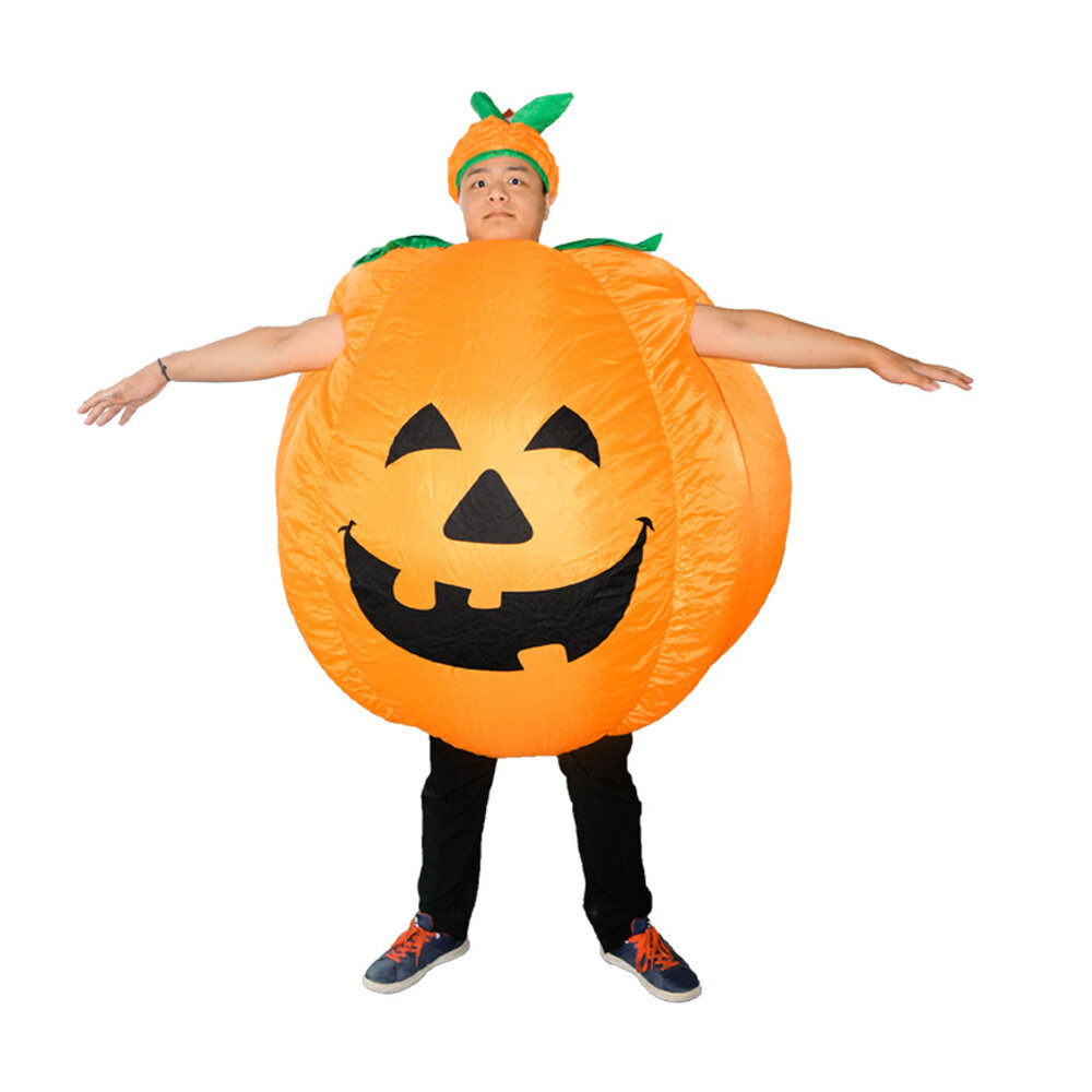 Kostum Halloween Labu Panggung Pertunjukan Labu Tiup Mainan untuk Orang Dewasa
