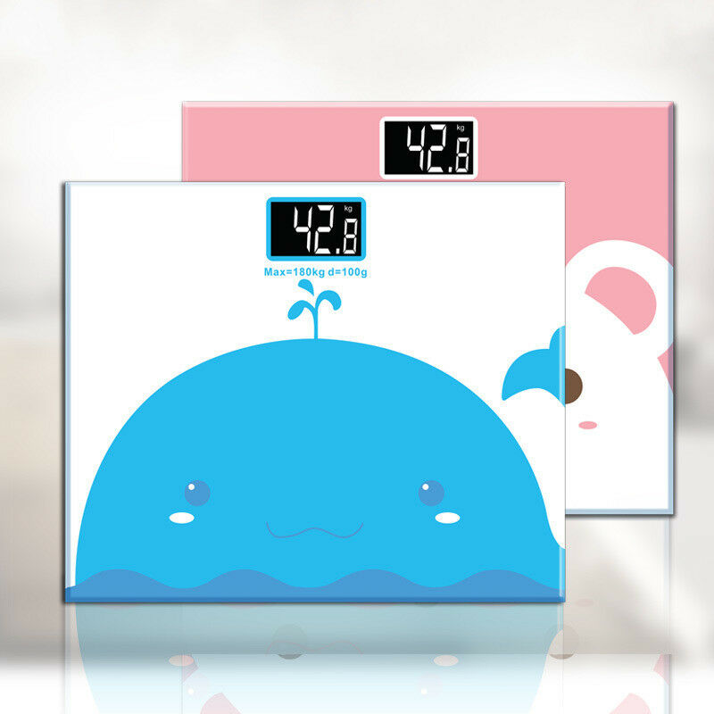Cute Bathroom Scales Floor Body Scale Glass Electronic Digital Floor Scales Weight Balance Bariatric